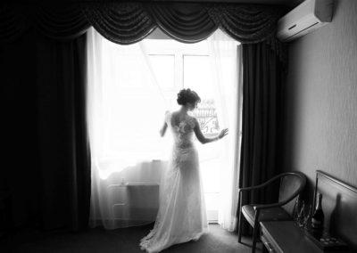 Сборы невесты в отеле утром